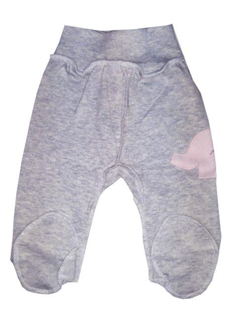 Ползунки ТБ К99 Серый меланж/розовый слоник