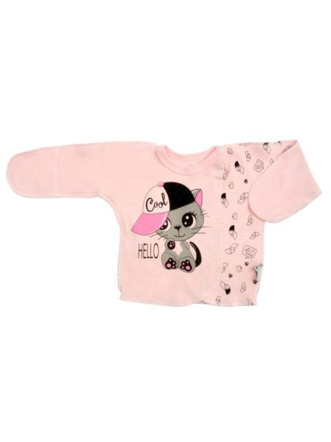 Распашонка теплая Amelli КЛ.110.008.0.234.055 Котик, розовый