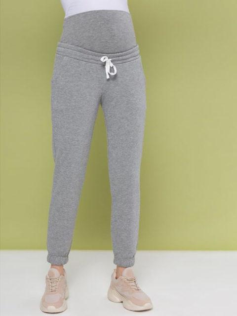 Спортивные брюки для беременных Киссея, серый меланж
