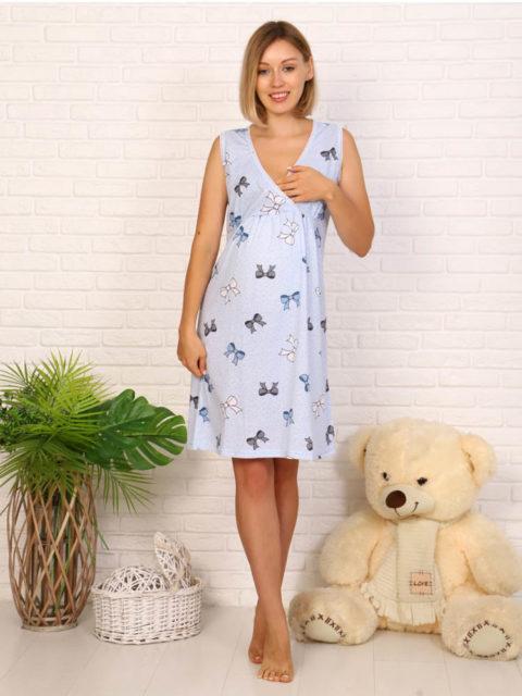 Сорочка для беременных и кормящих Вива, бантики