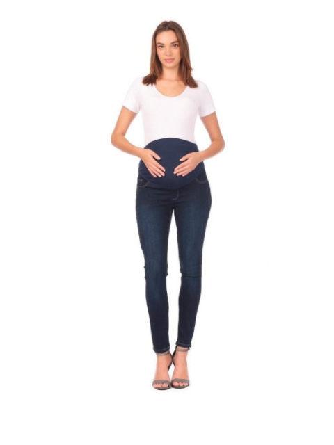 Джинсы для беременных зауженные Сиэтл, темно-синий