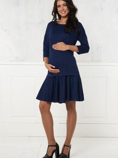Платье для беременных и кормящих Алессандрия, синий