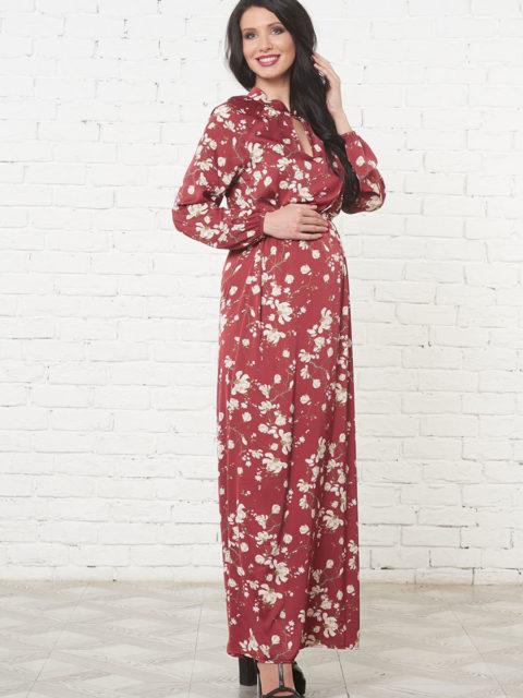 Платье для беременных и кормящих Фриули, бордо