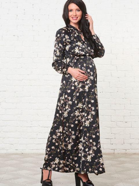 Платье для беременных и кормящих Фриули, черный