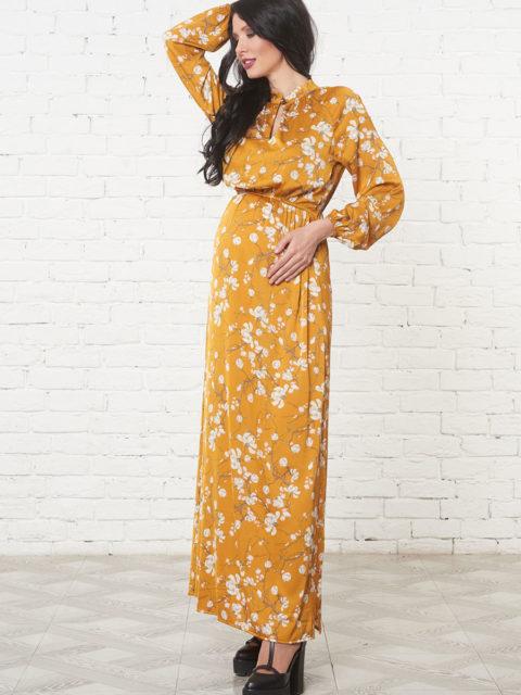 Платье для беременных и кормящих Фриули, горчичный