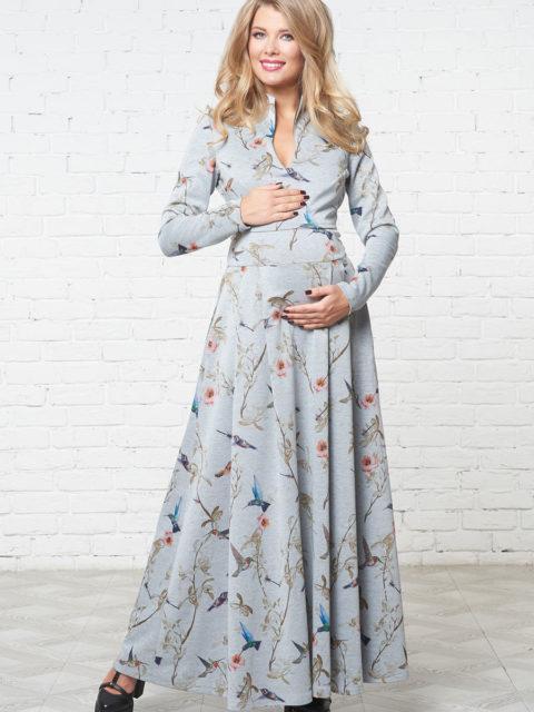 Платье для беременных и кормящих Маритино колибри